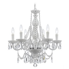 Crystorama Lighting Envogue Wet White Crystal Chandelier