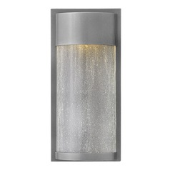 Hinkley Lighting Shelter Hematite LED Outdoor Wall Light