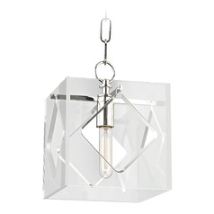 Hudson Valley Lighting Travis Polished Nickel Mini-Pendant Light with Square Shade