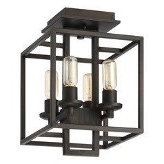 Craftmade Lighting Cubic Aged Bronze Brushed Semi-Flushmount Light