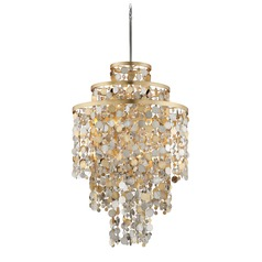 Corbett Lighting Ambrosia Gold and Silver Leaf Pendant Light