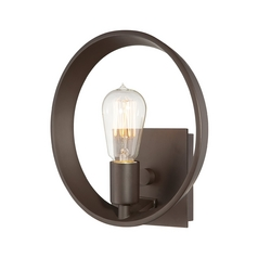 Retro Bronze Wall Light with Light Bulb