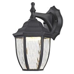 Black LED Outdoor Wall Lantern