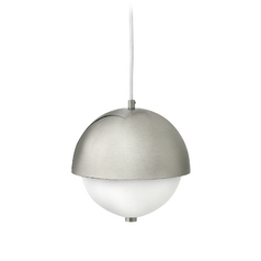 Frederick Ramond Globe Brushed Nickel Mini-Pendant Light with Bowl / Dome Shade