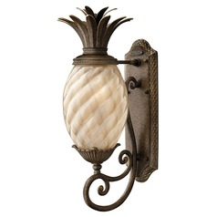 22-Inch Pearl Bronze Pineapple Outdoor Wall Light