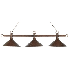 Island Light in Antique Copper Finish