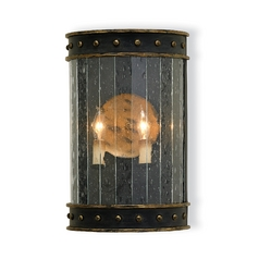 Plug-In Wall Lamp in Zanzibar Black/gold Finish
