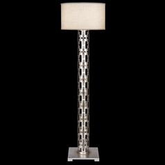 Fine Art Lamps Allegretto Silver Platinized Silver Leaf with Subtle Brown Highlights Floor Lamp with
