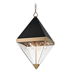 Hudson Valley Lighting Coltrane Aged Brass Pendant Light with Triangle Shade