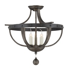 Savoy House Reclaimed Wood Semi-Flushmount Light