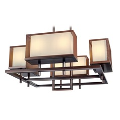 Maxim Lighting Hennesy Oil Rubbed Bronze LED Pendant Light with Rectangle Shade