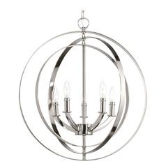 progress orb pendant light in burnished silver finish p5142 126