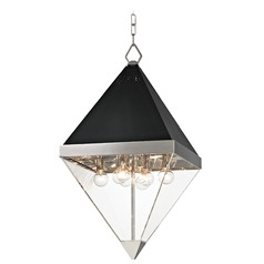 Mid-Century Modern Pendant Light Polished Nickel Coltrane by Hudson Valley Lighting