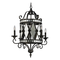 Chandelier in Blackened Silver Finish