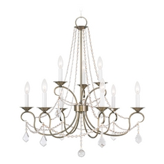 Livex Lighting Pennington Antique Brass Crystal Chandelier