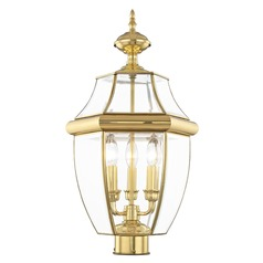 Livex Lighting Monterey Polished Brass Post Light