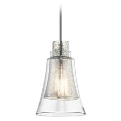 Mercury Glass Mini-Pendant Light Brushed Nickel Kichler Lighting