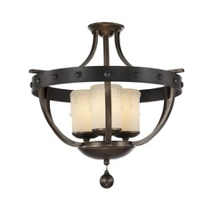 Savoy House Lighting Alsace Reclaimed Wood Semi-Flushmount Light