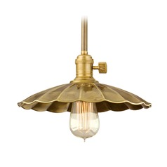 Hudson Valley Lighting Heirloom Polished Nickel Pendant Light with Scalloped Shade