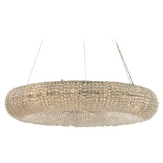 Elk Lighting Crystal Ring Polished Chrome Pendant Light