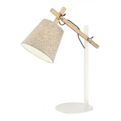 Lite Source Nature and White Swing Arm Lamp with Empire Shade
