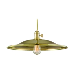 Pendant Light in Aged Brass Finish