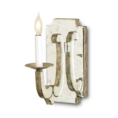 Plug-In Wall Lamp in Granello Silver Leaf Finish