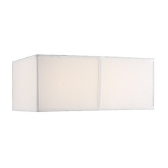 Medium White Silk Rectangular Shade
