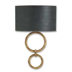 Currey and Company Lighting Gold Leaf / French Black Sconce