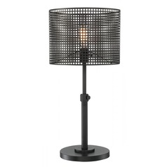 Lite Source Hamilton Black Table Lamp with Drum Shade