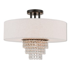 Livex Lighting Carlisle English Bronze Semi-Flushmount Light
