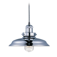 Maxim Lighting Mini Hi-Bay Polished Nickel Pendant Light with Bowl / Dome Shade