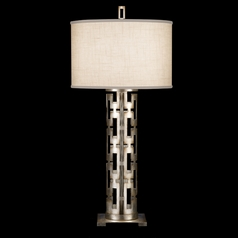 Fine Art Lamps Allegretto Silver Platinized Silver Leaf with Subtle Brown Highlights Table Lamp with