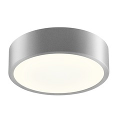 Sonneman Pi Bright Satin Aluminum LED Flushmount Light with Drum Shade