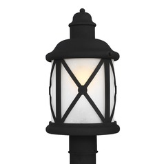 Sea Gull Lighting Lakeview Black LED Post Light