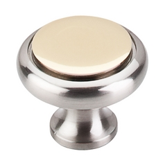 Top Knobs Hardware Cabinet Knob in Brushed Satin Nickel & Polished Brass Finish M339