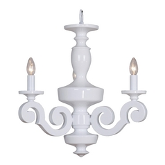 Jeremiah Lighting Atelier Gloss White Mini-Chandelier