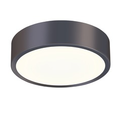 Sonneman Pi Black Bronze LED Flushmount Light with Drum Shade