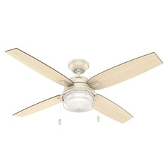 Hunter Fan Company Ocala Autumn Creme LED Ceiling Fan with Light