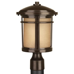 Progress Lighting Wish LED Antique Bronze LED Post Light