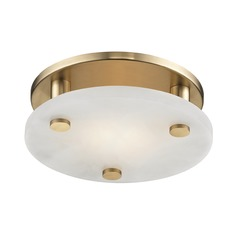Hudson Valley Lighting Croton Aged Brass LED Flushmount Light