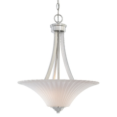 Teton Two-Light Pendant with Fluted Glass Shades