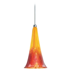 Wac Lighting European Collection Chrome Mini-Pendant with Conical Shade