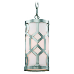 Crystorama Lighting Jennings Polished Nickel Mini-Pendant Light with Cylindrical Shade