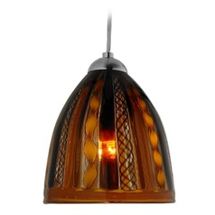 Oggetti Elan Dark Bronze Mini-Pendant Light with Bowl / Dome Shade