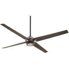 60-Inch Minka Aire Spectre Oil Rubbed Bronze/brushed Nickel LED Ceiling Fan with Light