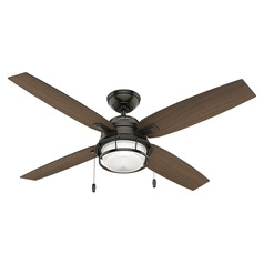 Hunter Fan Company Ocala Noble Bronze LED Ceiling Fan with Light