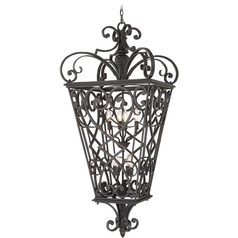 Outdoor Hanging Light in Marcado Black Finish