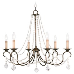 Livex Lighting Pennington Venetian Golden Bronze Crystal Chandelier