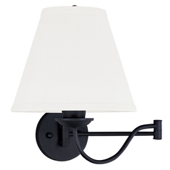 Livex Lighting Ridgedale Black Swing Arms Lamp
